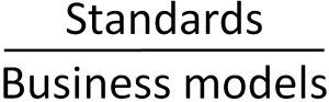 Standards and business models