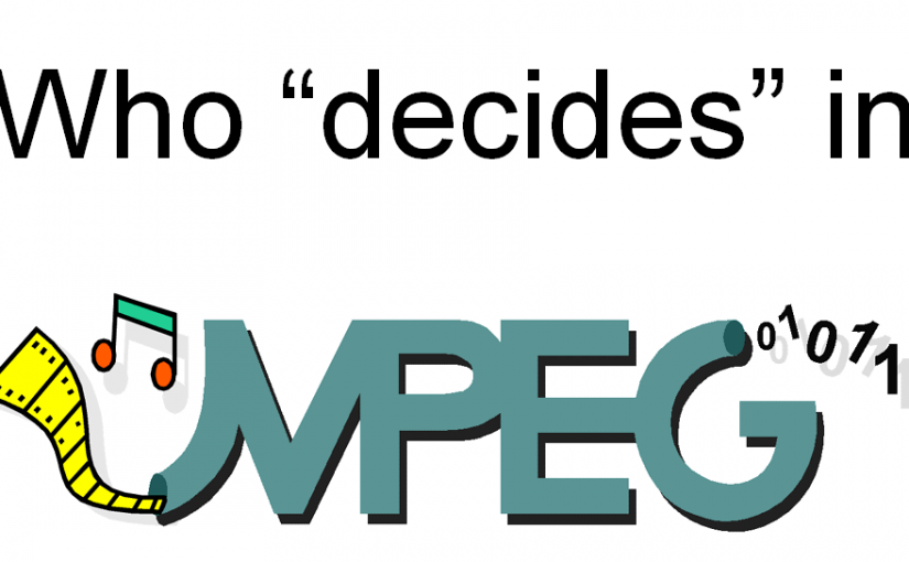 "Who ""decides"" in MPEG?"