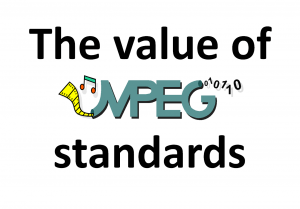 The value of MPEG standards