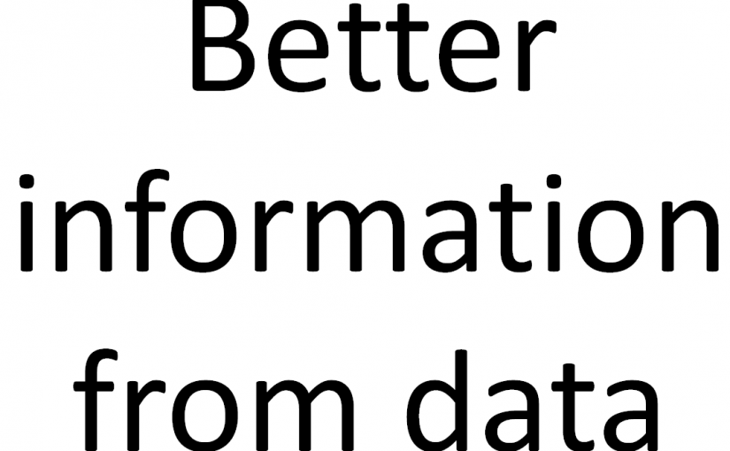 Better information from data